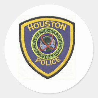 HOUSTON POLICE ROUND STICKER