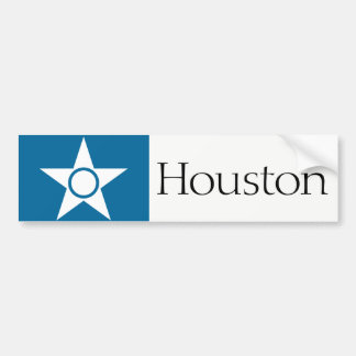 Houston simplified city flag bumper sticker