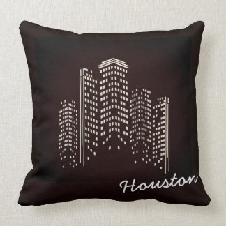 Houston Skyline Polyester Pillow