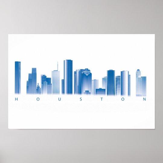 Houston Skyline Poster