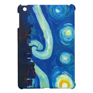 Houston Skyline Silhouette with Starry Night iPad Mini Cover