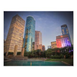 Houston Skyscrapers Photo Art