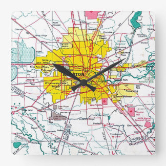 Houston Square Wall Clock