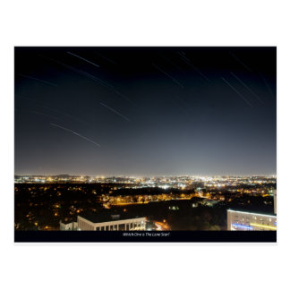 Houston Star Trails Postcard