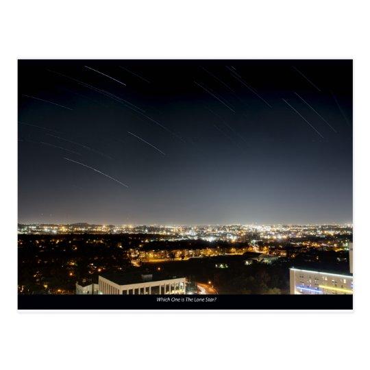 Houston Star Trails Postcard