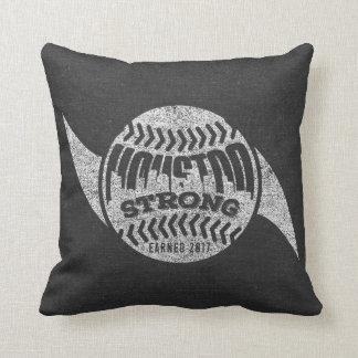 Houston Strong Distressed Baseball Hurricane Throw Pillow