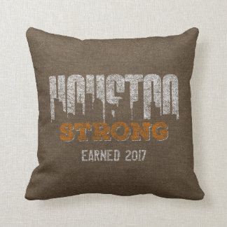 Houston Strong Distressed Personalized Pillow