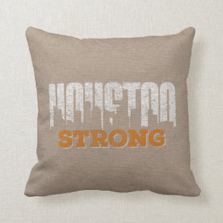 Houston Strong Distressed Pillow