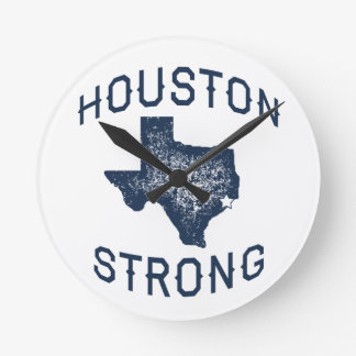 Houston Strong - Harvey Flood Relief Round Clock