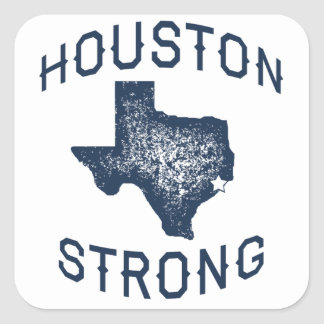 Houston Strong - Harvey Flood Relief Square Sticker