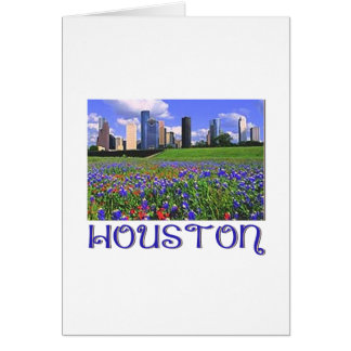 Houston Texas Bluebonnets Card