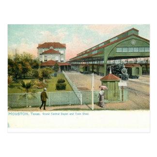 Houston Texas circa 1905 Grand Central Station Postcard