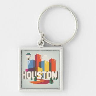 Houston, Texas | Cityscape Design Keychain