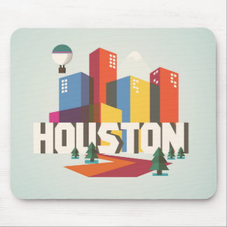 Houston, Texas | Cityscape Design Mouse Pad