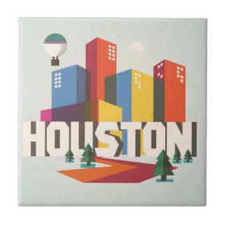 Houston, Texas   Cityscape Design Tile
