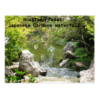 Houston, Texas: Japanese Gardens Waterfall Postcard