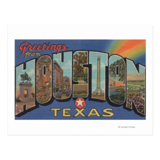 Houston, Texas - Large Letter Scenes 3 Postcard