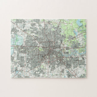 Houston Texas Map (1992) Jigsaw Puzzle