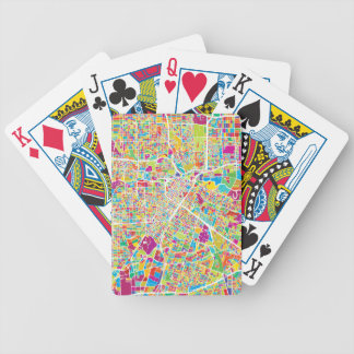 Houston, Texas | Neon Map Bicycle Playing Cards