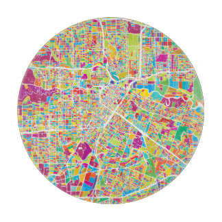 Houston, Texas | Neon Map Boards