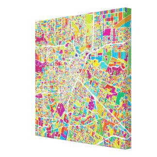 Houston, Texas | Neon Map Canvas Print