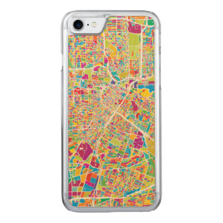 Houston, Texas | Neon Map Carved iPhone 8/7 Case