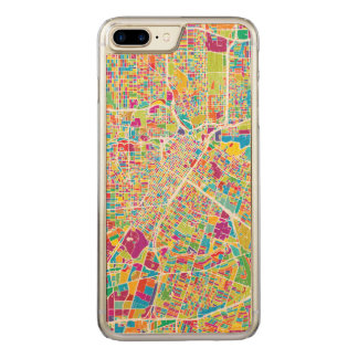Houston, Texas | Neon Map Carved iPhone 8 Plus/7 Plus Case