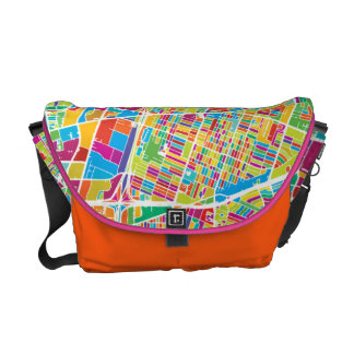 Houston, Texas | Neon Map Courier Bag