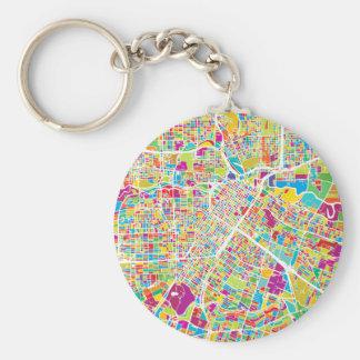 Houston, Texas | Neon Map Keychain