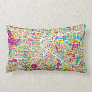 Houston, Texas | Neon Map Lumbar Pillow