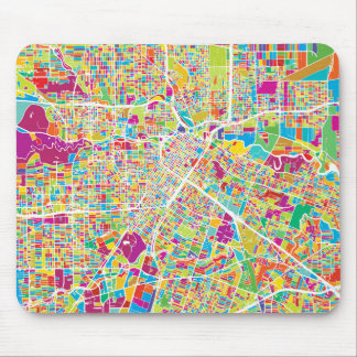 Houston, Texas | Neon Map Mouse Pad