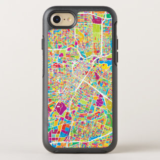 Houston, Texas | Neon Map OtterBox Symmetry iPhone 8/7 Case