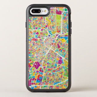 Houston, Texas | Neon Map OtterBox Symmetry iPhone 8 Plus/7 Plus Case