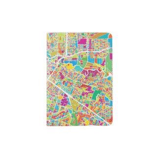 Houston, Texas | Neon Map Passport Holder
