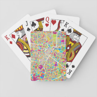 Houston, Texas | Neon Map Playing Cards