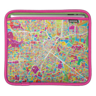 Houston, Texas | Neon Map Sleeves For iPads
