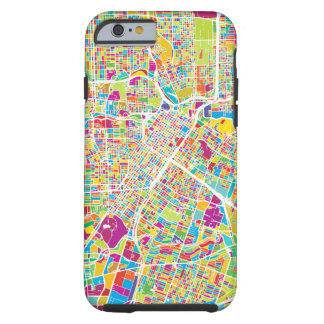 Houston, Texas | Neon Map Tough iPhone 6 Case