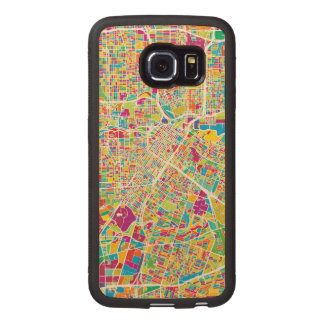 Houston, Texas | Neon Map Wood Phone Case
