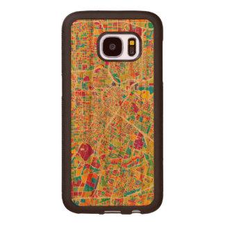 Houston, Texas | Neon Map Wood Samsung Galaxy S7 Case