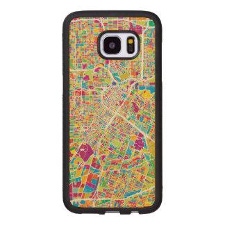 Houston, Texas | Neon Map Wood Samsung Galaxy S7 Edge Case