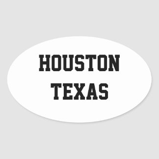 Houston Texas oval stickers