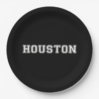 Houston Texas Paper Plate