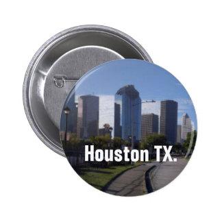 Houston Texas Skyline (Panoramic) 2 Inch Round Button