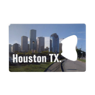 Houston Texas Skyline (Panoramic) Credit Card Bottle Opener