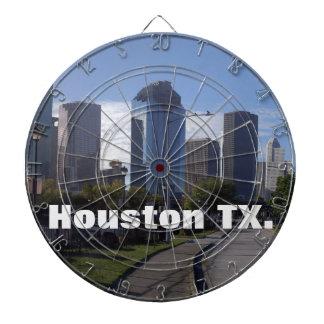 Houston Texas Skyline (Panoramic) Dartboards