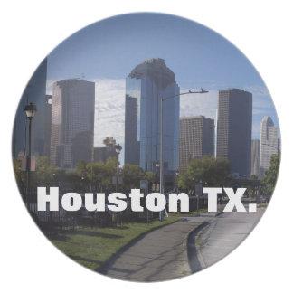 Houston Texas Skyline (Panoramic) Dinner Plates