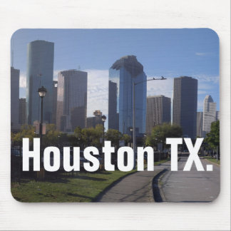 Houston Texas Skyline (Panoramic) Mouse Pad