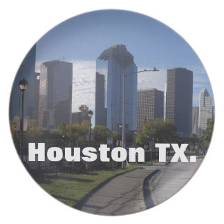 Houston Texas Skyline (Panoramic) Plate