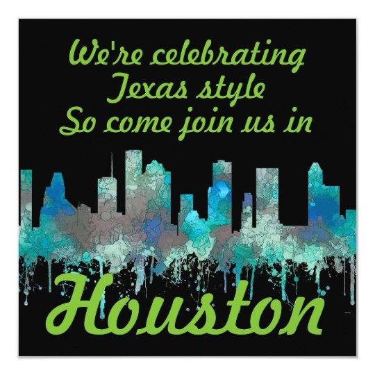 Houston, Texas Skyline - SG Jungle Card