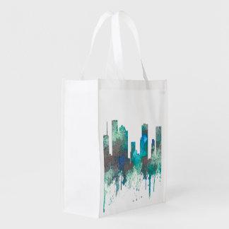 Houston, Texas Skyline - SG Jungle Reusable Grocery Bag